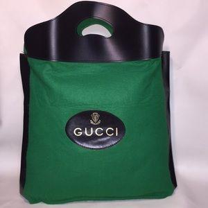 Vintage Gucci Wool Felt  Shopper Tote Bag